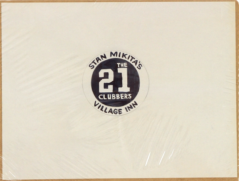 1970s Stan Mikitas Village Inn The 21 Clubbers Hand Drawn Logo Illustration