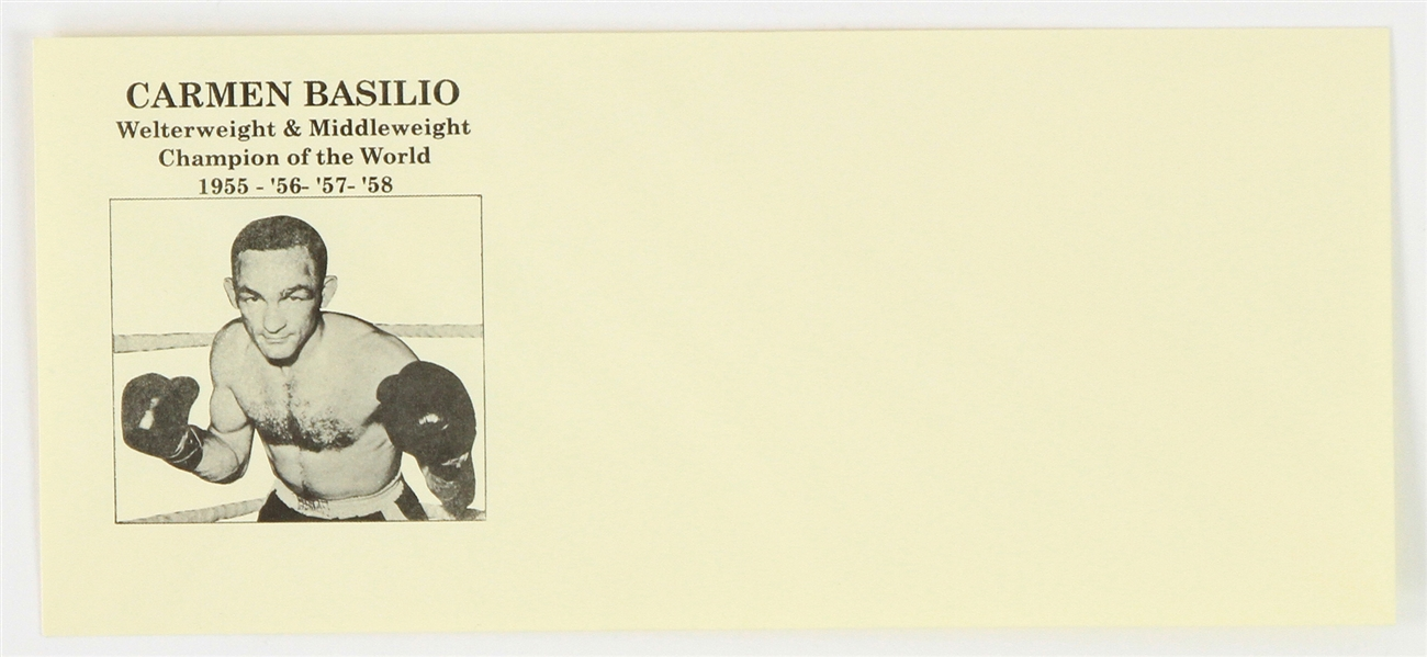 1958 Carmen Basilio Welterweight & Middleweight Champion of the World Mailing Envelope