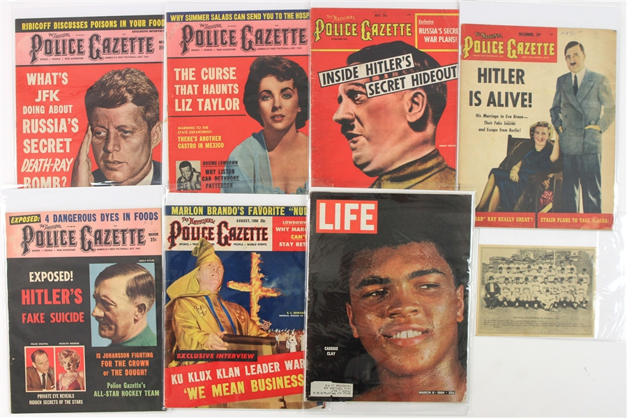 1950s-60s National Police Gazette Collection - Lot of 18
