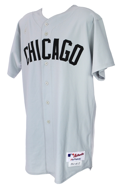 2003 (September 6) Kelly Wunsch Chicago White Sox Game Worn 1953 Throwback Road Uniform (MEARS LOA)