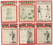 1944-54 Referee Boxing Magazines - Lot of 6