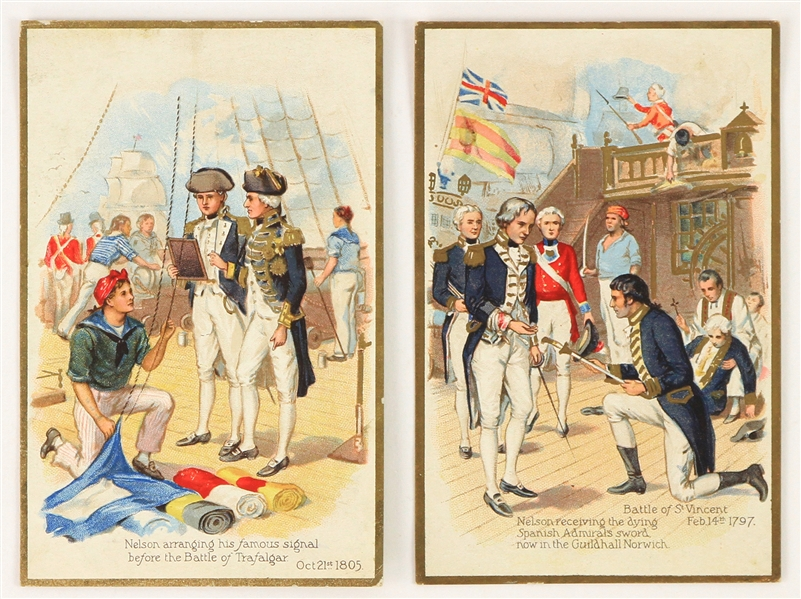 "1910s Admiral Horatio Nelson 3.5"" x 5.25"" Postcards - Lot of 2"