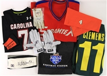 1980s-2000s Baseball Basketball Football Golf Olympic Memorabilia - Lot of 17 w/ Lou Holtz Signed Golf Gloves, Jimmy Rollins Signed Batting Gloves & More (JSA)