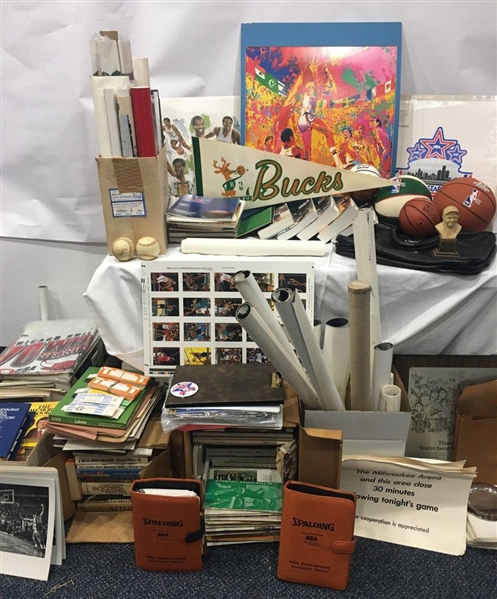 1970s to Present Milwaukee Bucks NBA Basketball Memorabilia Hoard