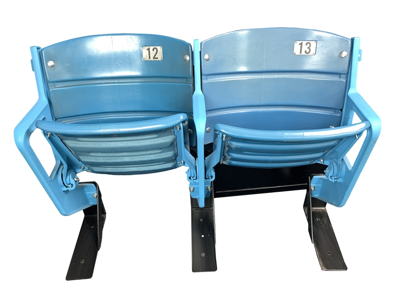 1975-2005 Los Angeles Dodgers Dodgers Stadium Seats - Pair of 2 (MEARS LOA)