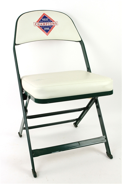 1996 Texas Rangers AL West Champions Ballpark in Arlington Clubhouse Chair (MEARS LOA)