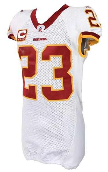 2011 (October 30) DeAngelo Hall Washington Redskins Game Worn Road Jersey (MEARS A10/Team COA)