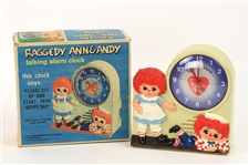 1974 Raggedy Ann & Andy MIB Bobbs Merrill Talking Alarm Clock