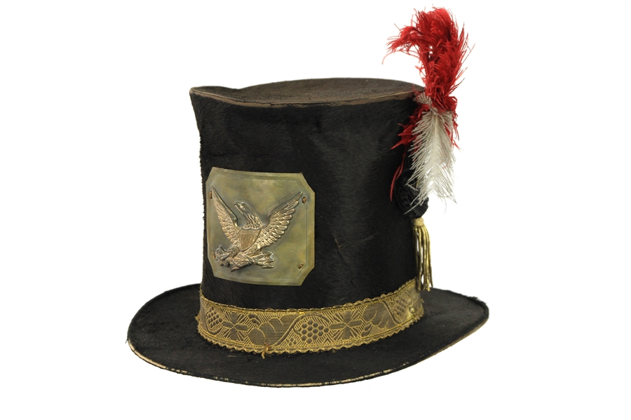 1861-65 Civil War WH Clute & Son Hardee Hat w/ Eagle Insignia (MEARS LOA)
