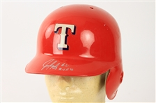 1994 Juan Gonzalez Texas Rangers Signed Game Worn Batting Helmet (MEARS LOA/JSA)
