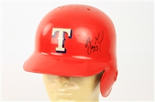1995-97 Benji Gil Texas Rangers Signed Game Worn Batting Helmet (MEARS LOA/JSA)