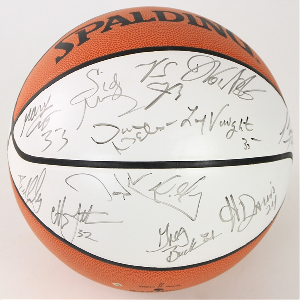 2000-01 Dallas Mavericks Team Signed ONBA Stern Autograph Panel Basketball w/ 18 Signatures Including Steve Nash, Michael Finley, Shawn Bradley & More (JSA)