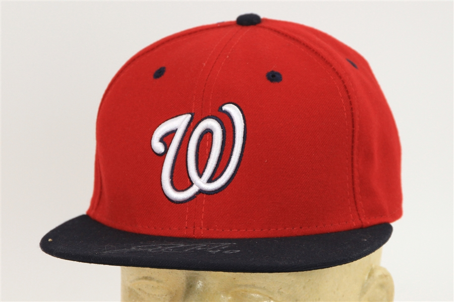 2016 Wilson Ramos Washington Nationals Signed Cap (JSA/MLB Hologram)