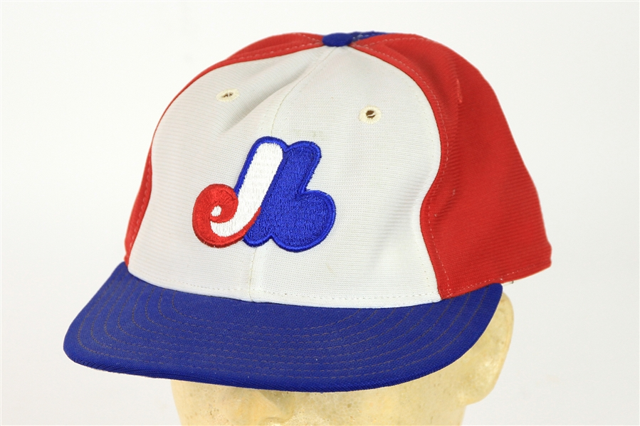 1985-87 Montreal Expos Game Worn Cap (MEARS LOA)