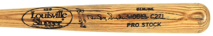 1980s Duke Snider Brooklyn Dodgers Signed Louisville Slugger Pro Stock Bat (JSA)