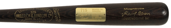 1974 Hank Aaron Atlanta Braves H&B Louisville Slugger Magnavox 715th Career Home Run Commemorative Bat