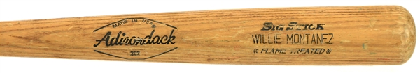 1979 Willie Montanez Texas Rangers Adirondack Professional Model Game Used Bat (MEARS LOA)