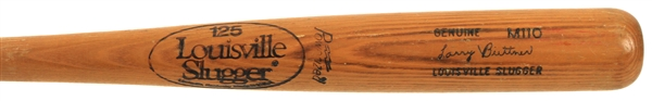1983 Larry Biittner Texas Rangers Louisville Slugger Professional Model Batting Practice Bat (MEARS LOA)
