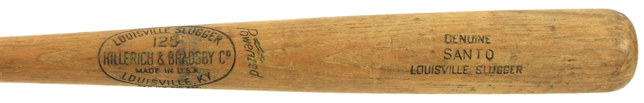 1961-64 Ron Santo Chicago Cubs H&B Louisville Slugger Professional Model Game Used Bat (MEARS A9)