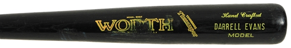 1984-88 Darrell Evans San Francisco Giants Worth Professional Model Game Used Bat (MEARS LOA)