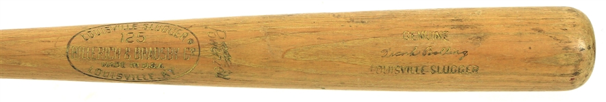 1965-66 Frank Bolling Milwaukee/Atlanta Braves H&B Louisville Slugger Professional Model Game Used Bat (MEARS LOA & PSA/DNA)