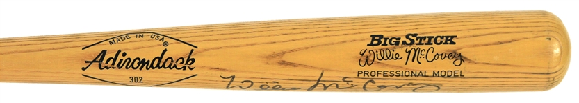 1977-79 Willie McCovey San Francisco Giants Signed Adirondack Bat (JSA)