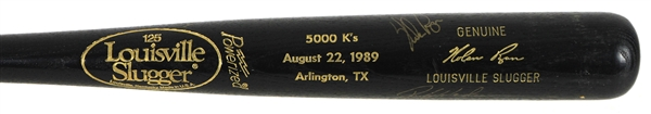 1989 Nolan Ryan Rickey Henderson Signed Louisville Slugger 5,00th Career Strikeout Bat (JSA)