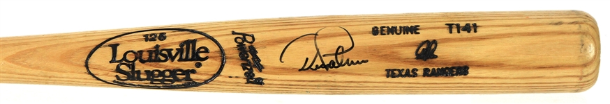 1991-97 Dean Palmer Texas Rangers Signed Louisville Slugger Professional Model Game Used Bat (MEARS LOA/JSA)