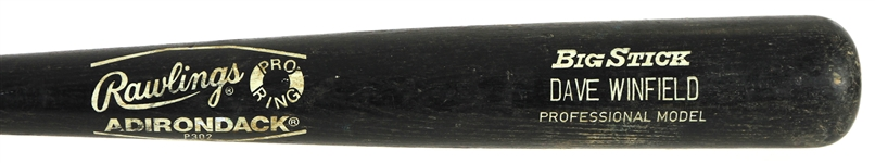 1986 Dave Winfield New York Yankees Rawlings Adirondack Professional Model Game Used Bat (MEARS A10)