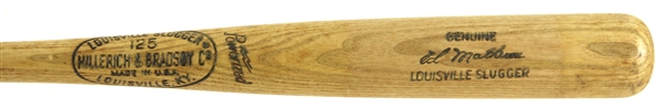 1971-72 Eddie Mathews Atlanta Braves Post Playing Career H&B Louisville Slugger Coaches Bat (MEARS LOA)