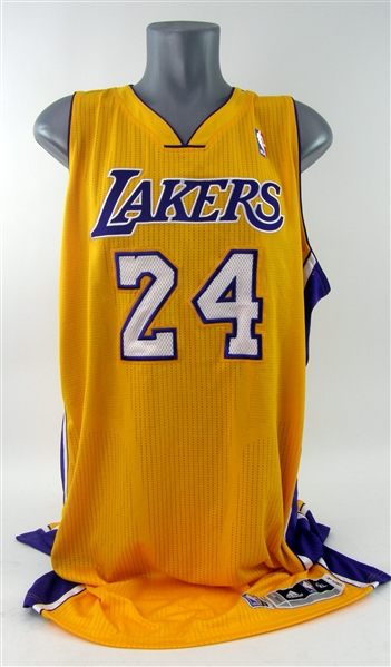 2012-13 Kobe Bryant Los Angeles Lakers Home Jersey (MEARS A5)