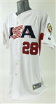 2009 Curtis Granderson Team USA Signed World Baseball Classic Jersey (MEARS A10/JSA)