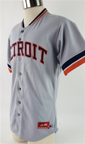 1988 Alan Trammell Detroit Tigers Game Worn Road Jersey (MEARS A10)