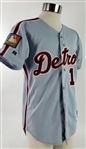 1994 Lou Whitaker Detroit Tigers Signed Game Worn Road Jersey (MEARS A10/JSA)