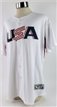 2009 Evan Longoria Team USA Signed World Baseball Classic Jersey (MEARS A10/JSA)