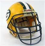 1984-91 Keith Uecker Green Bay Packers Signed Game Worn Helmet (MEARS LOA/JSA)