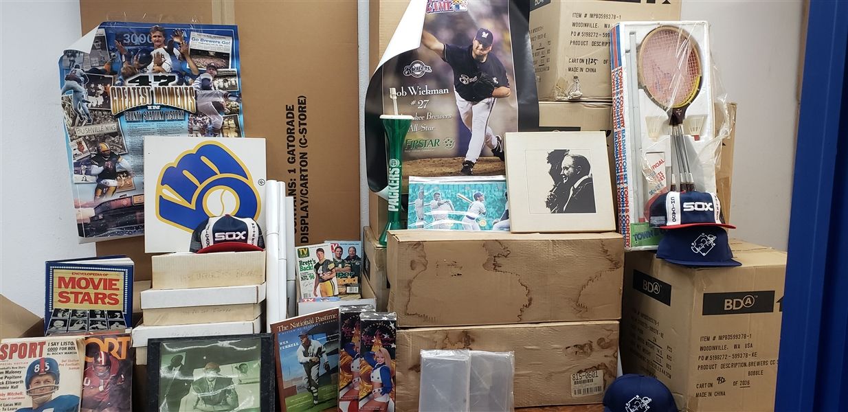 1960s To Present Massive Memorabilia Collection - Cards, Starting Lineups, Caps, Bobble Head Dols, Posters, etc