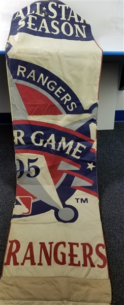 "1995 Texas Rangers The Ballpark in Arlington 26"" x 140"" All Star Game Stadium Banner (MEARS LOA)"