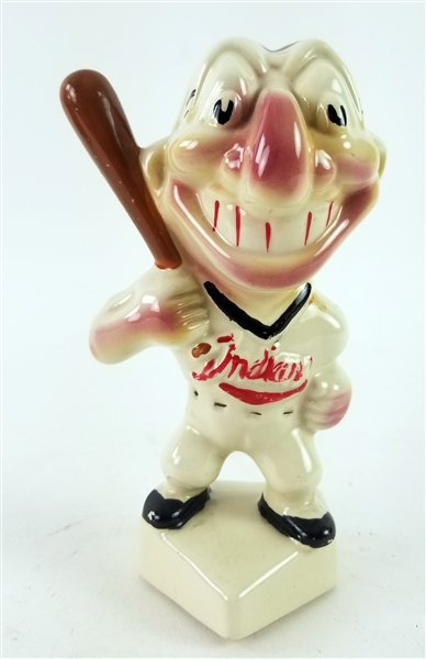 "1950s Cleveland Indians 7.25"" Ceramic Coin Bank"