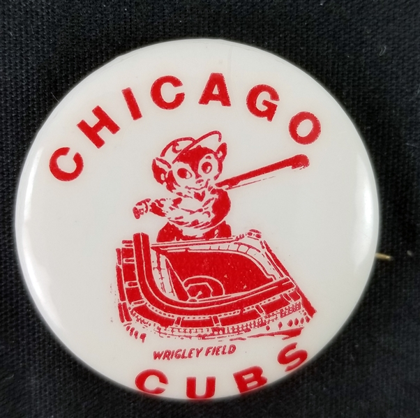 "1950s Chicago Cubs Wrigley Field 1.25"" Pinback Button"