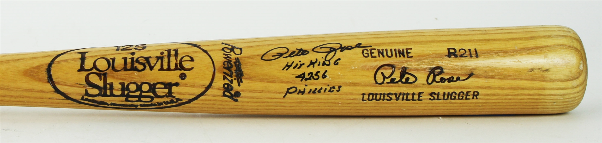 1980-83 Pete Rose Philadelphia Phillies Signed Louisville Slugger Professional Model Bat (MEARS A5/JSA & PSA/DNA)