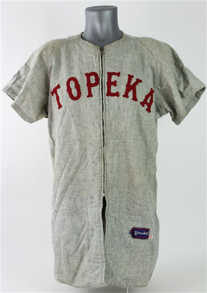 1960-61 Tommy Harper Topeka Reds Game Worn Minor League Road Jersey (MEARS LOA)
