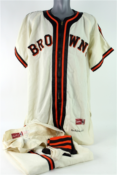 1964 Denny Galehouse / Fred Hofmann St. Louis Browns World Series 20th Anniversary Reunion Uniform w/ Pants  & Stirrups (MEARS LOA)
