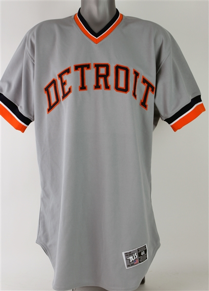 2007 Ivan Rodriguez Detroit Tigers 1977 Throwback Road Jersey (MEARS A10)