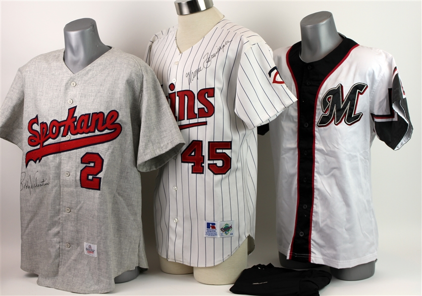 1980s-2000s Bobby Valentine Wayne Terwilliger Jersey & Apparel Collection - Lot of 4 w/ 2 Signed (JSA)