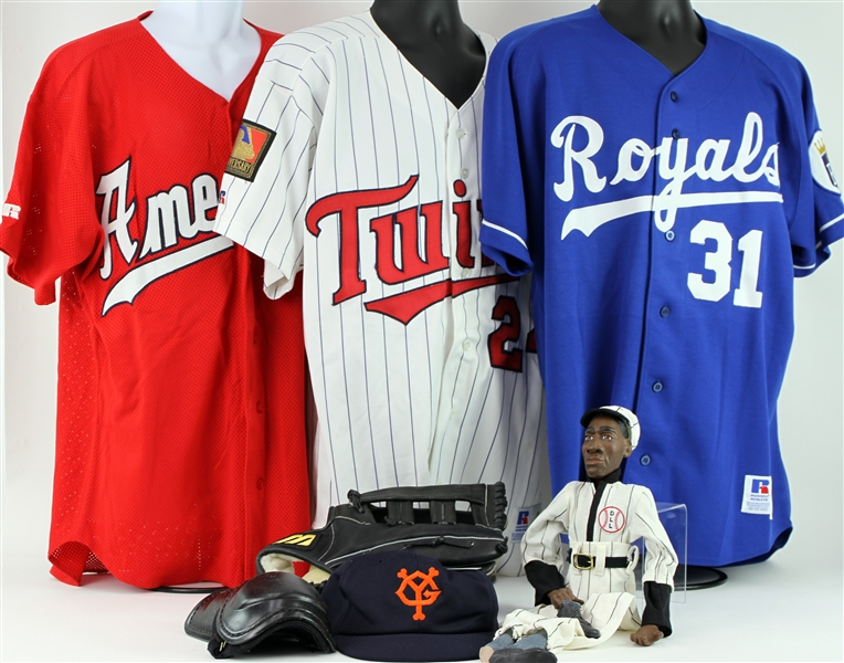 1980s-2000s Shane Mack Game Worn Jersey Collection - Lot of 16 w/ 1984 Olympics Sweater Vest, San Diego Padres, Boston Red Sox, Minnesota Twins & More (MEARS LOA)