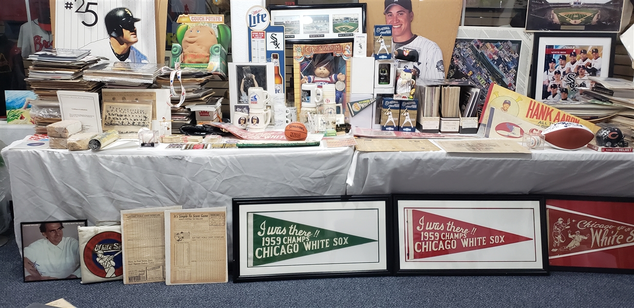 Collection of 200+ items. Chicago White Sox, Baseball, MISC, some autographs