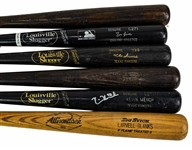 1977-2006 Professional Model Game Used Bat Collection - Lot of 6 w/ Mike Scioscia, Steve Kemp, Larvell Blanks & More (MEARS LOA)