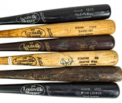 1981-2008 Professional Model Game Used Bat Collection - Lot of 6 w/ John Cangelosi, Benji Gil, Ryan Ludwick & More (MEARS LOA)