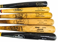 1981-97 Professional Model Game Used Bat Collection - Lot of 6 w/ Larry Biittner, Kevin Reimer, Mickey Tettleton & More (MEARS LOA)